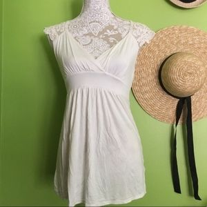 Forever 21 // Ivory Lace Back Tie Back Tunic Top